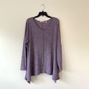 Soft Surroundings | Purple Long Sleeve Sweater 1X